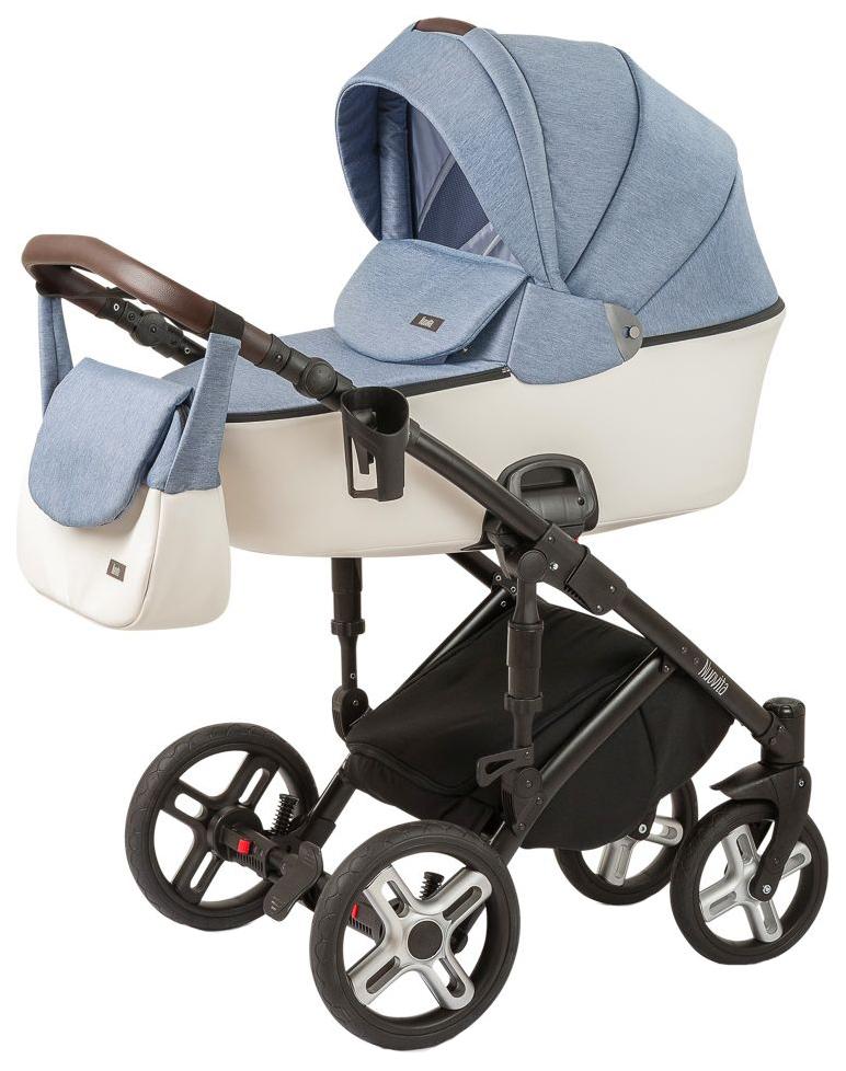 Купить Коляска 2 в 1 Nuovita Carro Sport Denim bianco, Детские коляски 2 в 1