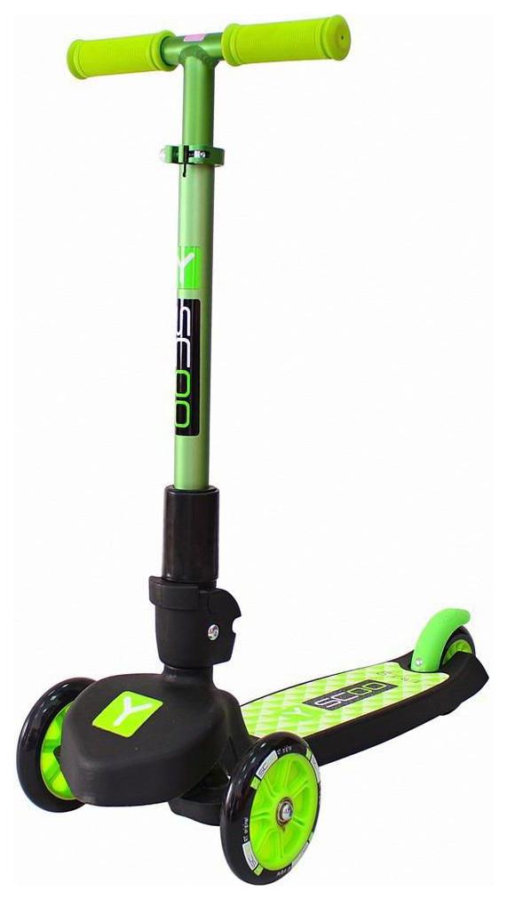 Купить Самокат трехколесный Y-Scoo rt trio maxi 120 green, Самокаты детские трехколесные