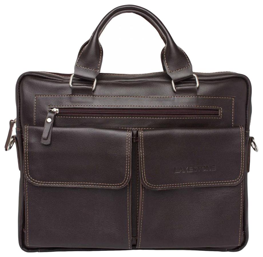 Портфель мужской кожаный Lakestone Holford коричневый фото
