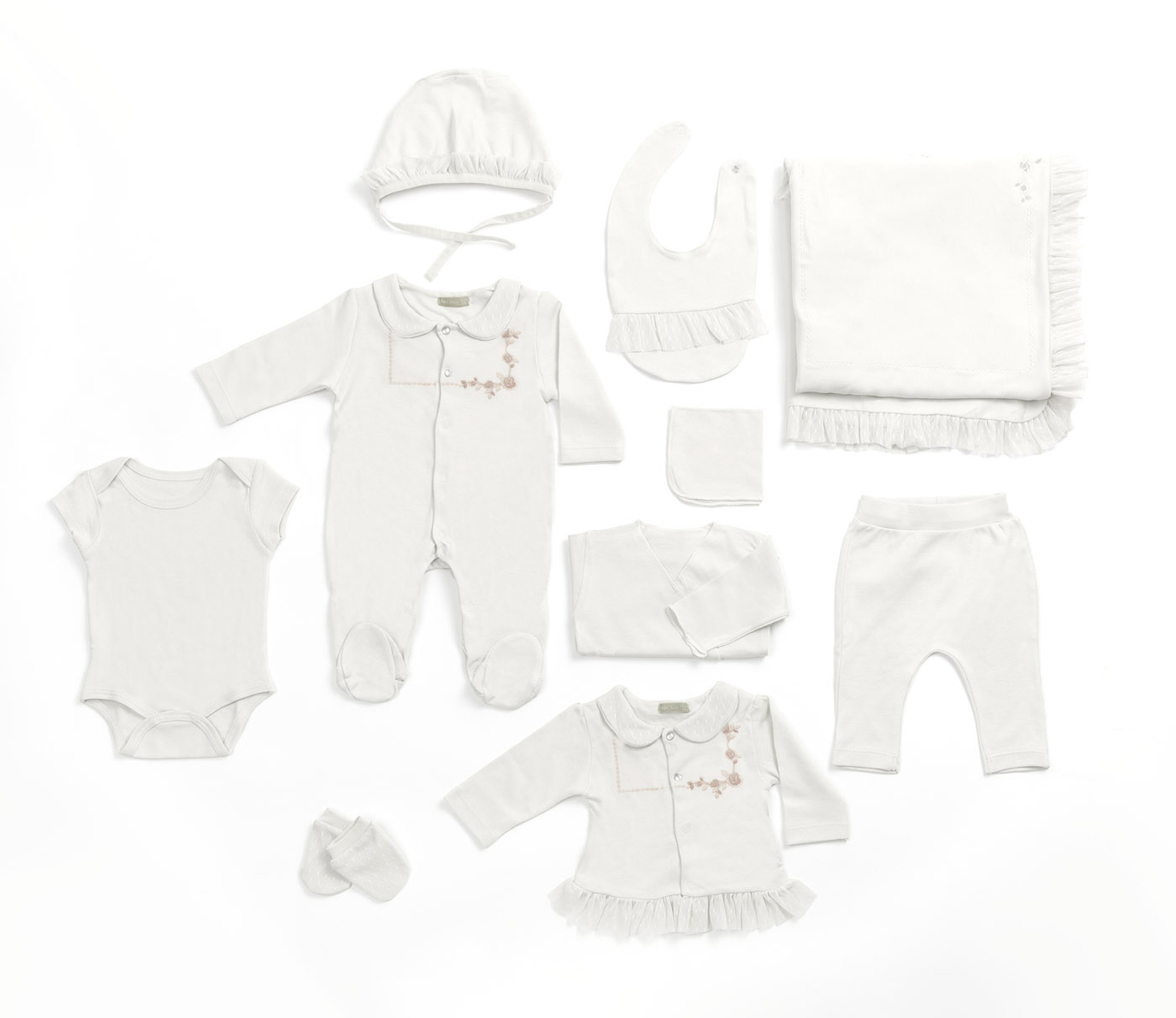 Комплект одежды для новорожденного RBC МЛ 427332 кремовый р.onesize