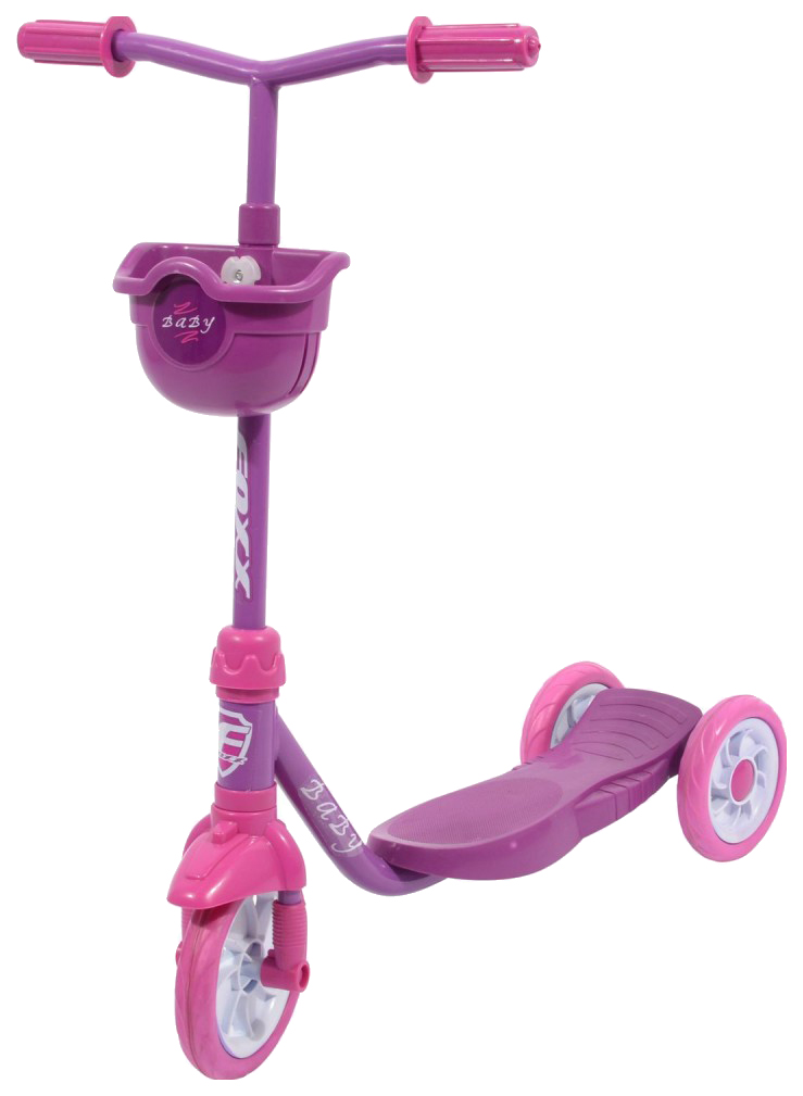 Самокат трехколесный Foxx Baby фиолетовый с корзинкой