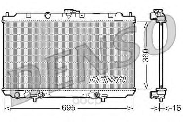 Радиатор системы охлаждения акпп nissan primera 1.8 02 Denso DRM46024