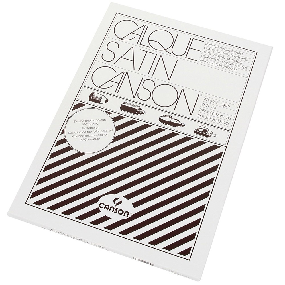 Canson Калька в коробке CANSON, 90г/м2, 30х42см (А3), 250 листов фото