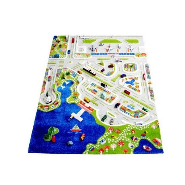 картинка Детский игровой 3D-ковер Мини город, 134 х 180 см от магазина Bebikam.ru