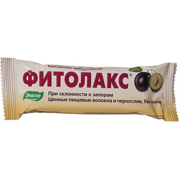 Фруктовый батончик Эвалар Фитолакс 50 г 12 шт. фото