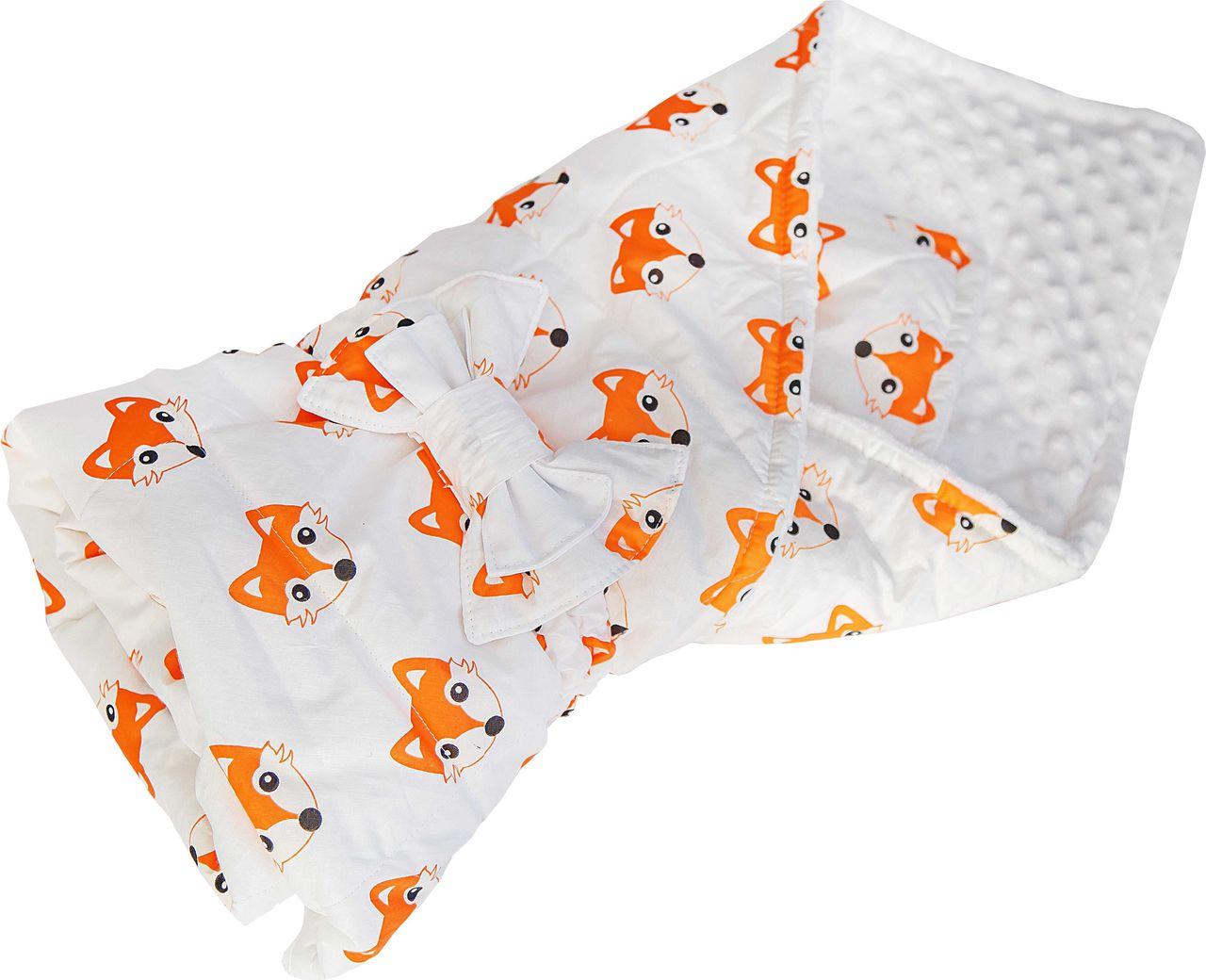 Конверт одеяло SlingMe Лисички белый