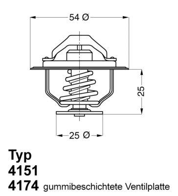 Термостат WAHLER 4174.88D