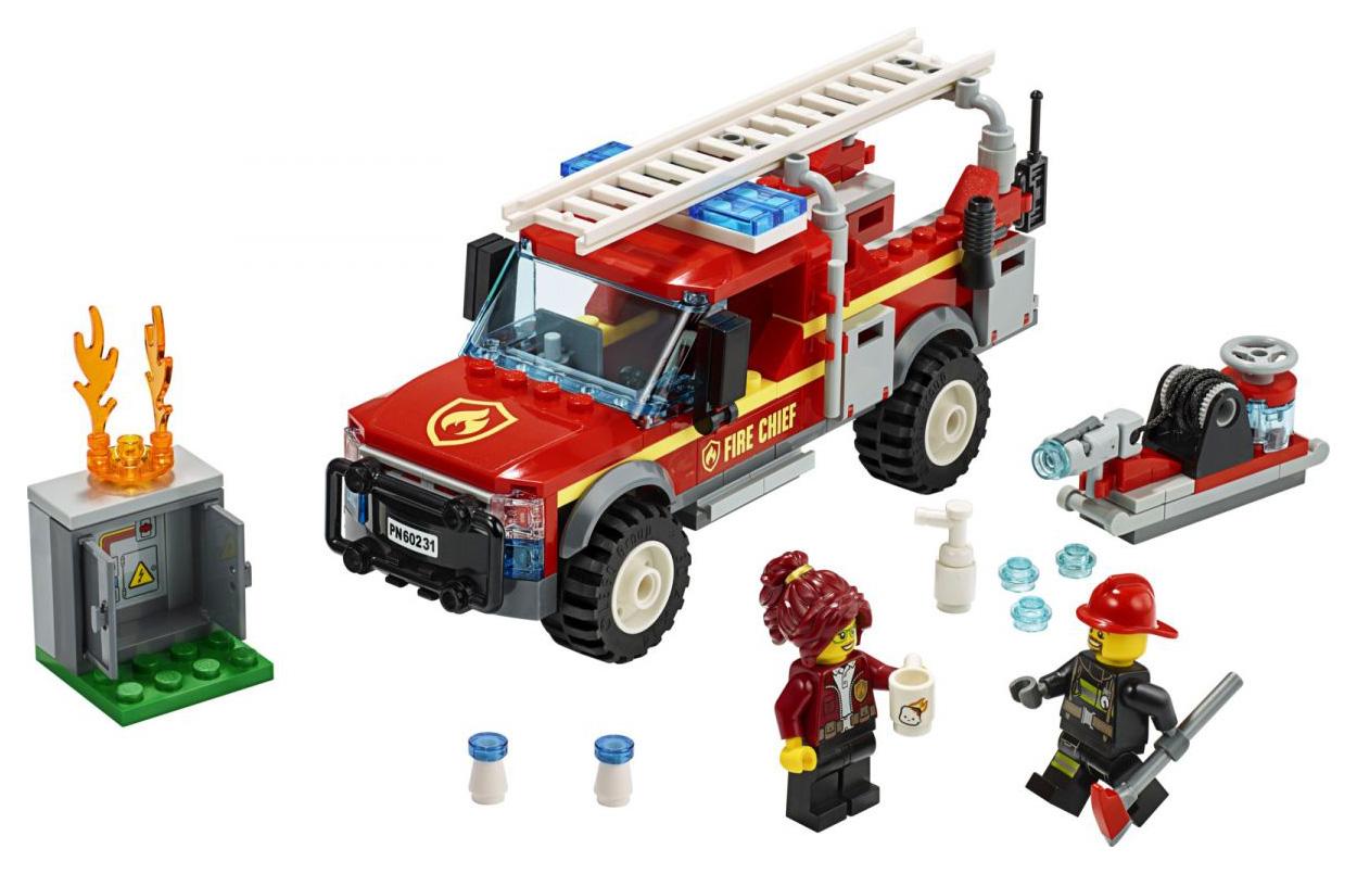 Купить City Town, Конструктор LEGO City Грузовик начальника пожарной охраны, LEGO для девочек