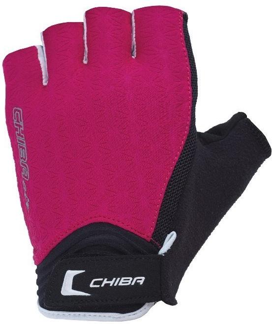Перчатки для фитнеса женские Chiba Lady Line Air, розовые/белые, S INT