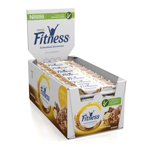 Батончик цельный злаковый Fitness шоколад банан 24 шт по 23.5 г, 5900020033994