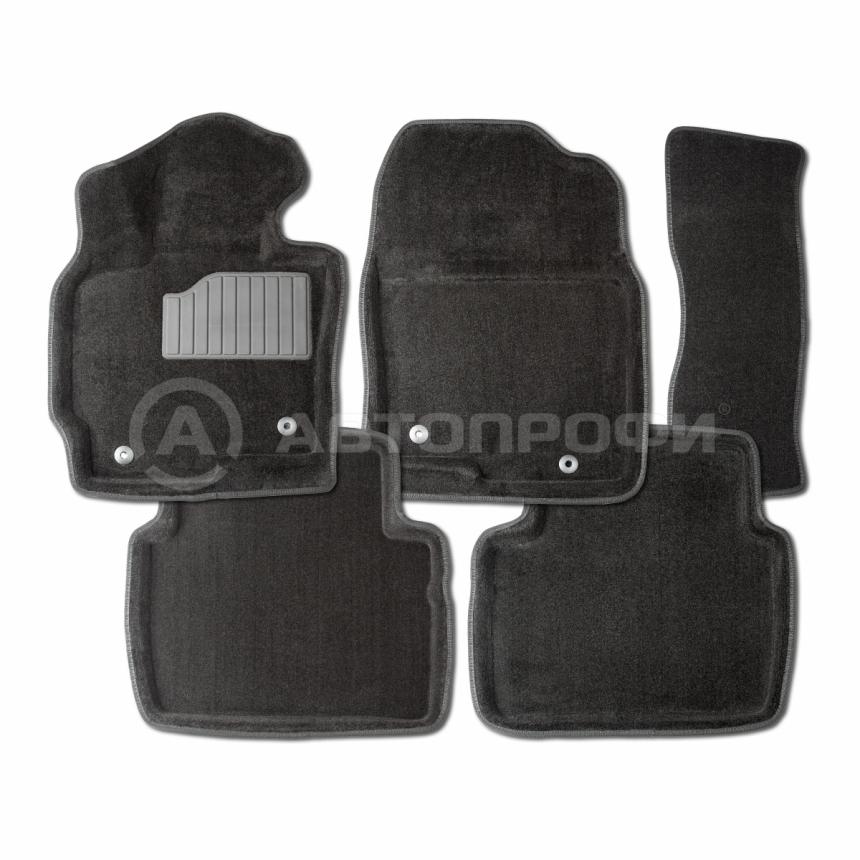 Ворсовые коврики 3D для Nissan Tiida 2007-2014 / 71696