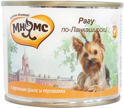 Консервы для собак Мнямс Рагу по-Ланкаширски, куриное филе с травами, 6шт по 200г