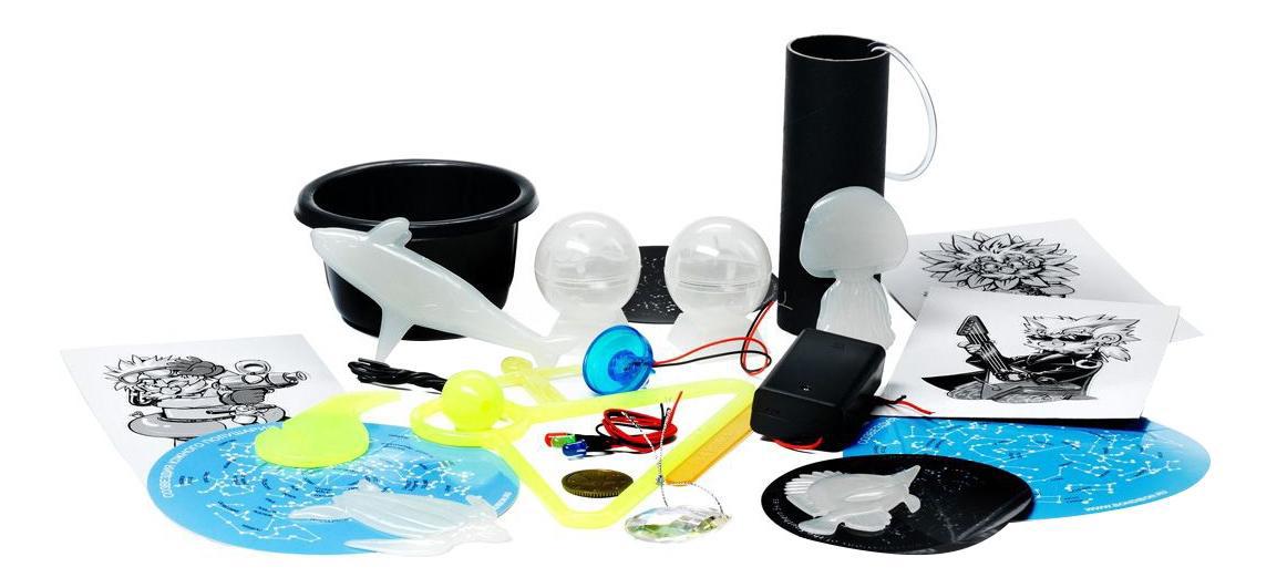 Купить Лаборатория света, Французские опыты науки с буки Bondibon (12 экспериментов) лаборатория света, Наборы для опытов
