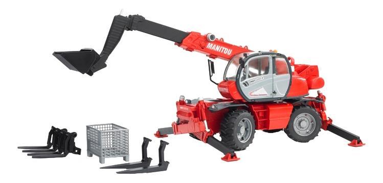 Купить Погрузчик колесный Bruder Manitou mrt 2150 с телескопическим ковшом, Игрушечный транспорт Bruder