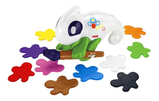 Купить Игровой набор Fisher-Price Обучающий хамелеон FCH23, Интерактивные мягкие игрушки