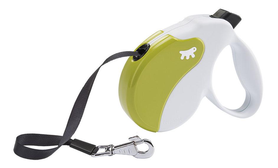 Рулетка-поводок FERPLAST Amigo Medium лента бело-зеленая