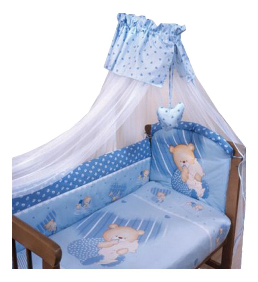 Комплект в кроватку Золотой гусь Мишутка голубой