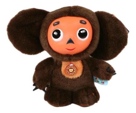 Купить Чебурашка, Мягкая игрушка Мульти-Пульти Чебурашка с пластиковой мордочкой 25 см, Мягкие игрушки персонажи