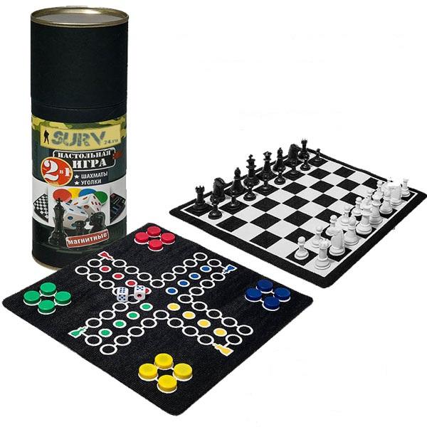 Магнитная игра Boyscout Шахматы и уголки магнитные