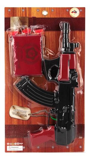 Купить Автомат-Трещотка, Игрушечное оружие Играем Вместе Автомат-трещотка с удостоверением, Стрелковое игрушечное оружие