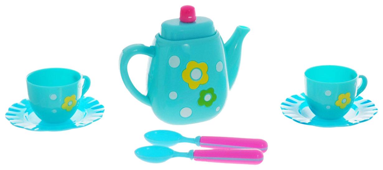 Купить Набор посуды игрушечный ABtoys Чаепитие M6009, Игрушечная посуда