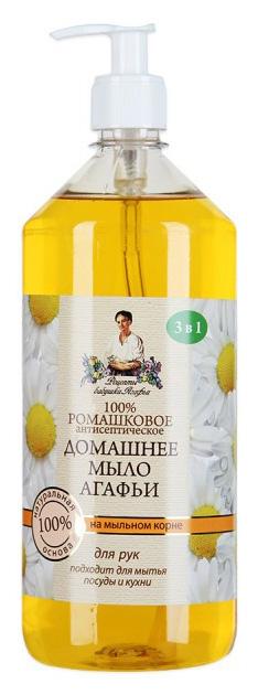 Купить Мыло домашнее Агафьи Ромашковое 1л, ромашковое, Рецепты бабушки Агафьи