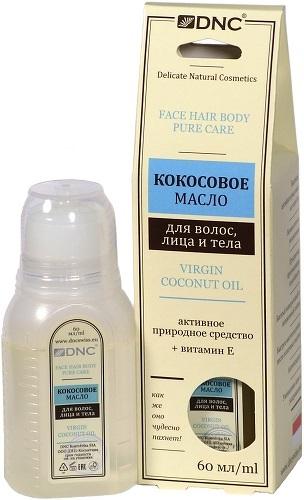 Кокосовое масло DNC для волос, лица и тела, 60 мл
