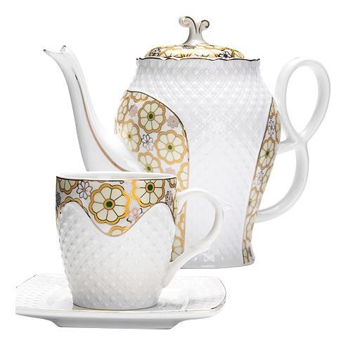 Чайный сервиз LORAINE 13 предметов 220 мл + 1,3 л чайник 26836 13 пр. фото