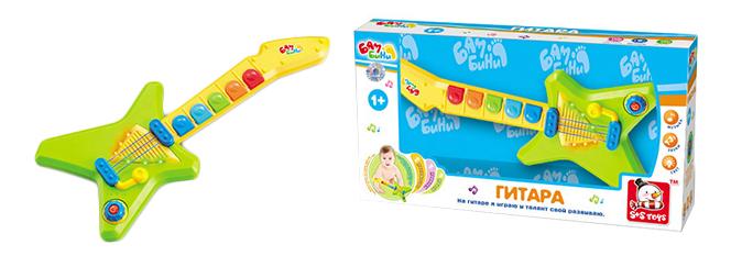 Гитара игрушечная S+S Toys Бамбини со светом и звуком фото