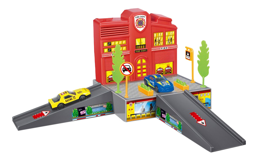 Парковка игрушечная Dave Toy Пожарная станция