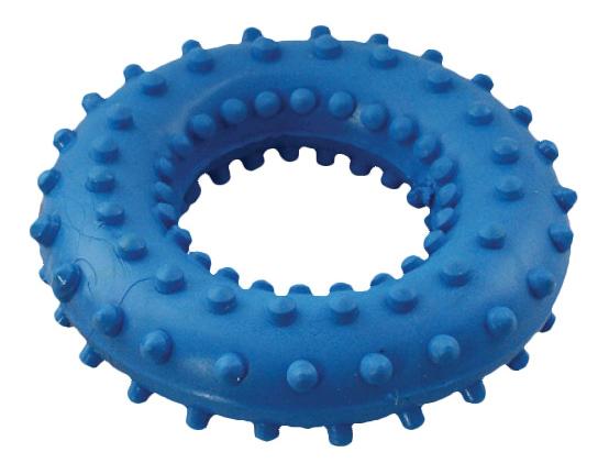 Жевательная игрушка для собак Зооник Кольцо с шипами №3, в ассортименте, 8,4 см фото