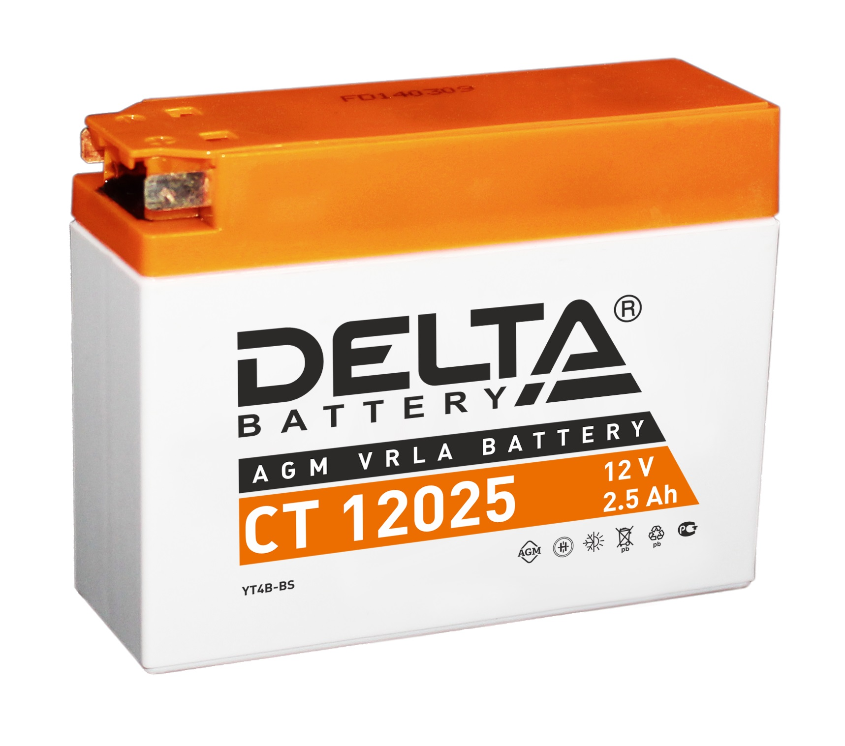 Аккумулятор автомобильный автомобильный Delta CT 12025 2.5 Ач фото