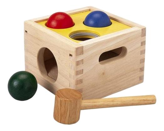 Сортер PlanToys Молоток с шарами, Развивающие игрушки  - купить со скидкой