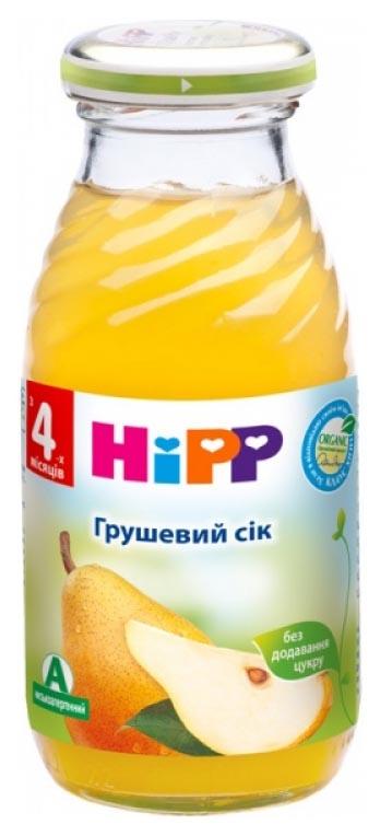Сок Hipp Грушевый б/с с 4