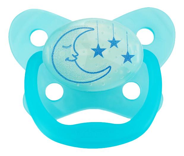 Купить PreVent с 6 до 12 месяцев Луна - 1 шт. голубая, Пустышка Dr. Brown's силиконовая PreVent с 6 до 12 месяцев Луна голубая, Dr. Brown's,