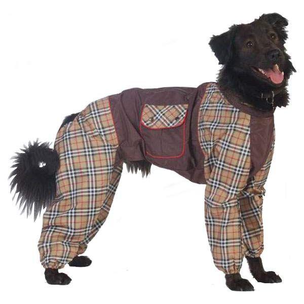 Комбинезон для собак ТУЗИК размер 3XL женский, коричневый, длина спины 52 см