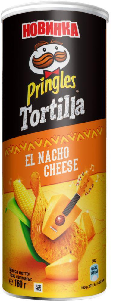 Чипсы кукурузные Pringles сыр начо 160 г фото