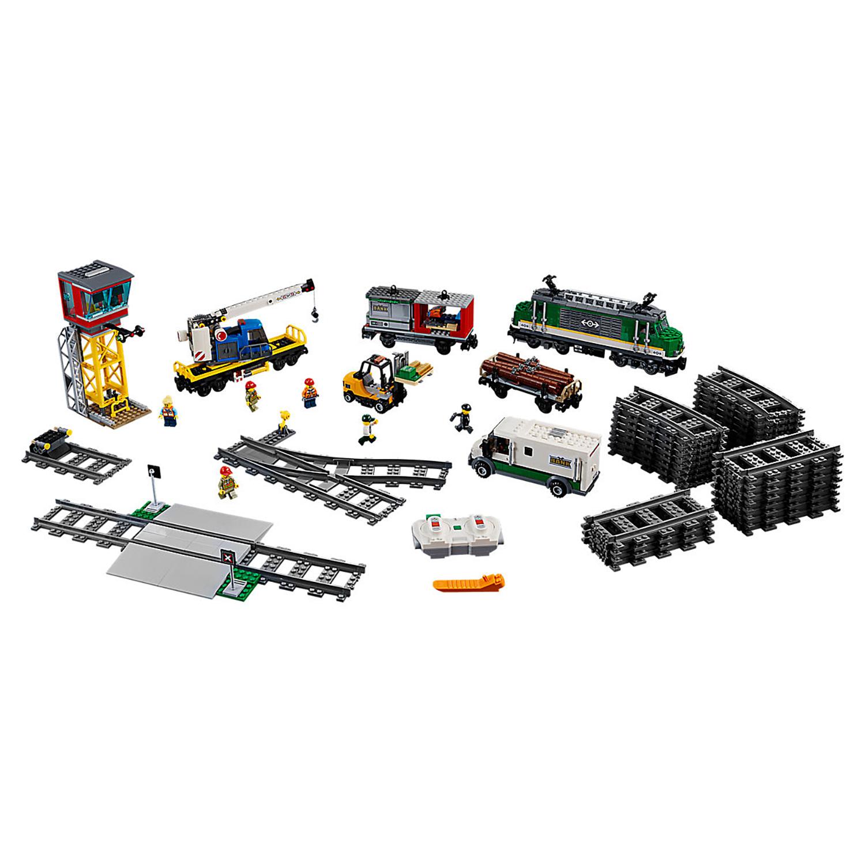 Купить Конструктор lego city trains товарный поезд 60198, Конструктор LEGO City Trains Товарный поезд 60198