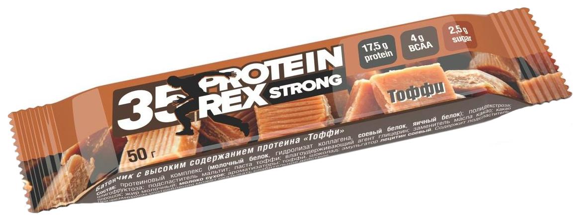 Протеиновый батончик ProteinRex Strong 50 г тоффи