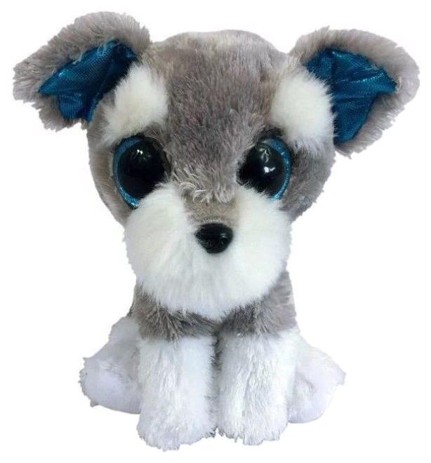 Купить 15 см Серая, Мягкая игрушка ABtoys Собачка серая, 15 см, Мягкие игрушки животные