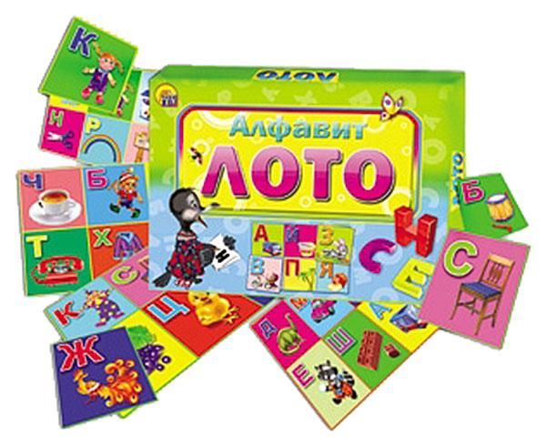 Игра настольная Рыжий кот Лото Алфавит, Семейные настольные игры  - купить со скидкой