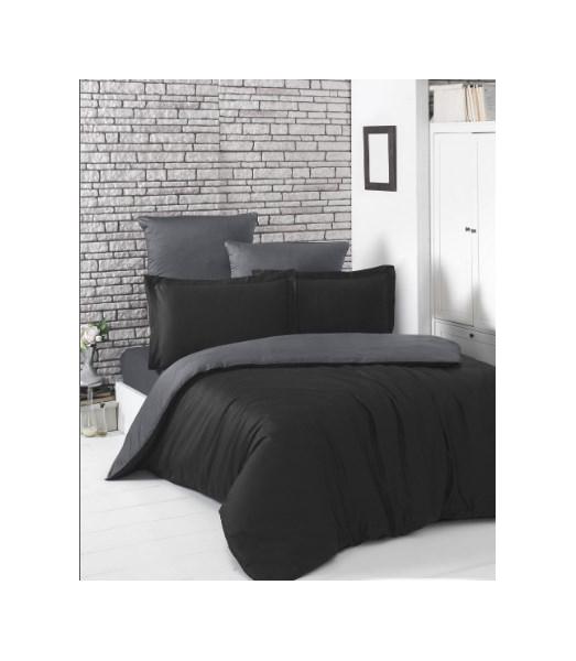 Постельное белье Karna Gaylon Цвет: Черный, Темно-Серый (2 спальное евро)