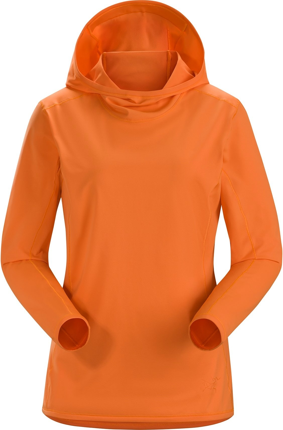 Футболка Arcteryx Phasic Sun Hoody женская оранжевая