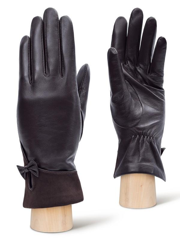 Перчатки женские Labbra LB-0303 коричневые 7.5 фото