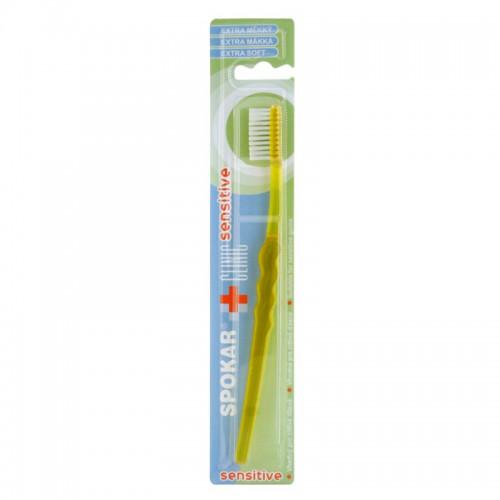 Зубная щетка SPOKAR CLINIC с плоским щеточным полем, экстра мягкая щетина