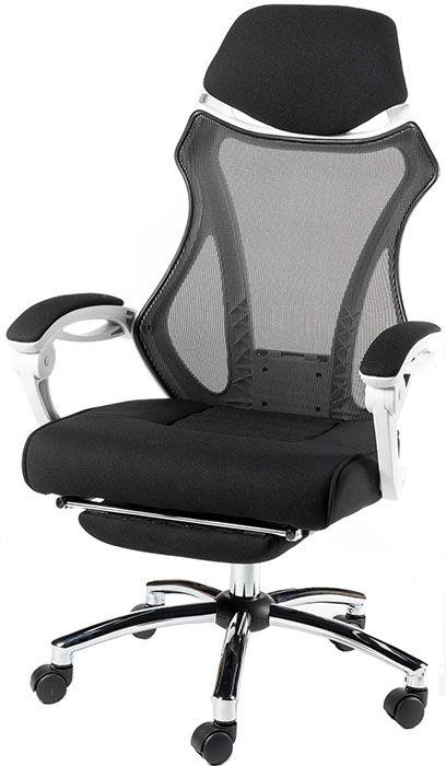 Офисное кресло Агат H-007 А черный-белый