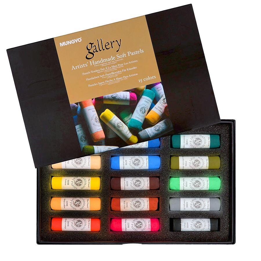 Набор сухой пастели ручной работы в картонной коробке Mungyo GALLERY Handmade Soft 15 цв
