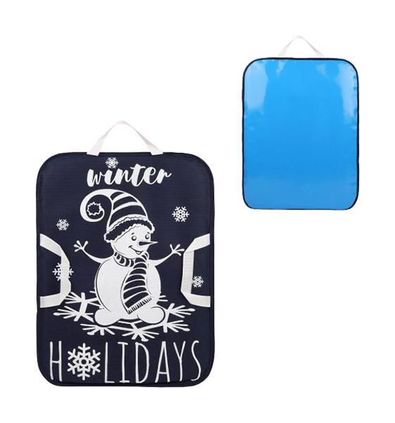 Ледянка с принтом 56x42 см, синяя