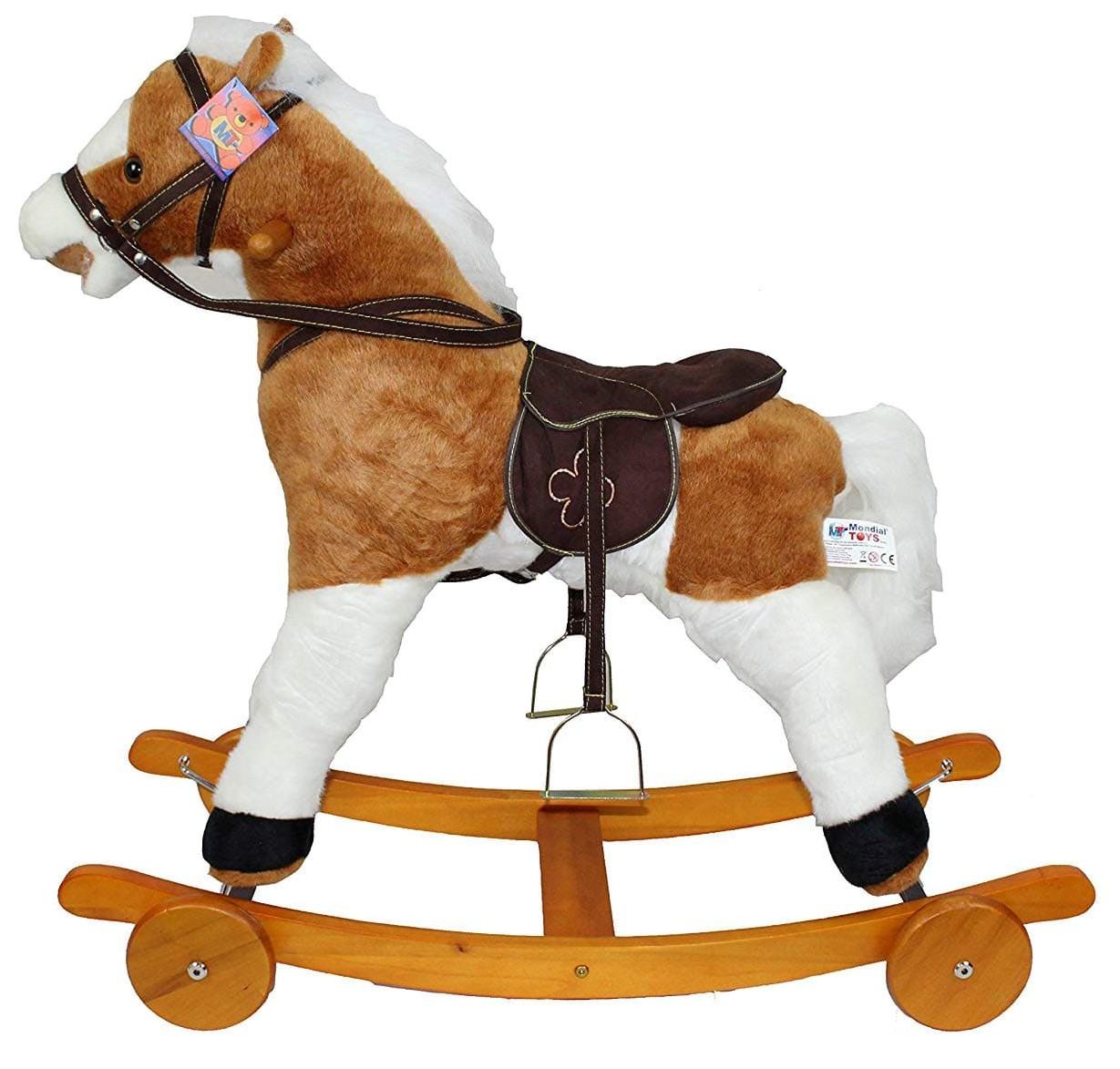 Купить Качалка-лошадка Pituso fandango , с колесами, светло-коричневый с белым, Качалки детские
