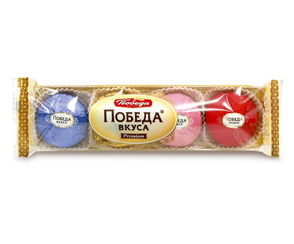 Трюфели шоколадные Победа Вкуса с марципаном 4 вкуса фото